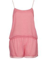 Topshop Womens Pinspot Pj Cami and Shorts Set  Pink - Lyst