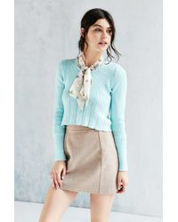Kimchi Blue | Pointelle Babydoll Sweater | Lyst