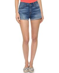 Rag & Bone The High Rise Segrin Shorts - Devon - Lyst