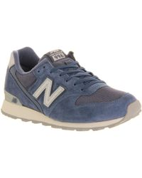 New Balance Blue Wr996 - Lyst