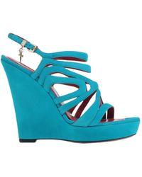Cesare Paciotti Sandals blue - Lyst