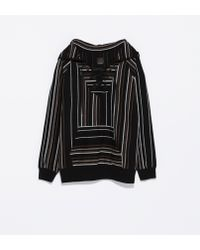 Zara Black Chilaba Sweatshirt - Lyst