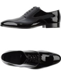 Armani Laceup Shoes - Lyst