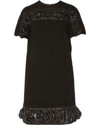 Christopher Kane Shell-Paneled Wool-Crepe Dress - Lyst