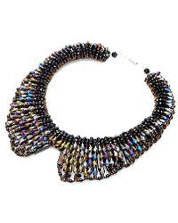 Nakamol - Tazia Crystal Necklace-hematite - Lyst
