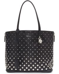 Alexander McQueen Padlock Small Studded Shopper Bag - Lyst