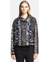 Proenza Schouler Double Breasted Jacquard Jacket - Lyst