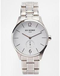 Ben Sherman Stainless Steel Strap Watch Wb003Wm - Lyst
