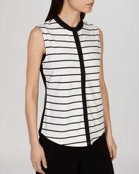 Karen Millen Top - Striped black - Lyst