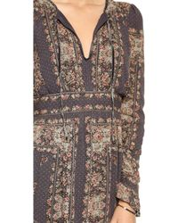 Free People Bridgette Mini Dress  Black Combo - Lyst