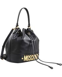Moschino Lettering Bucket Bag - Lyst