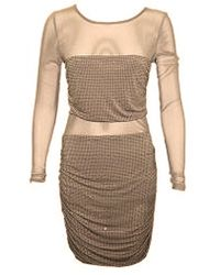 Sheri Bodell Clothing Sheri Bodell Crystal Illusion Dress - Lyst