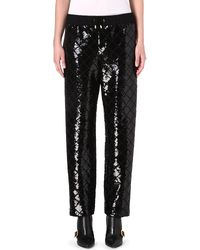 Moschino Sequinembellished Harem Trousers Blk - Lyst