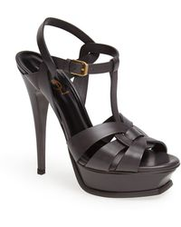 Saint Laurent 'Tribute' Sandal - Lyst
