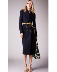 Burberry Sculptural Wool Twill Tailored Coat - Lyst
