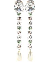 Miu Miu Crystal-Embellished Clip-On Earrings - Lyst