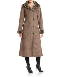 Gallery - Convertible Faux Fur-trimmed Coat - Lyst