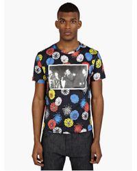 Raf Simons Men'S Black Printed Cotton T-Shirt - Lyst
