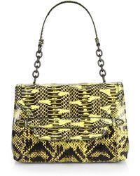 Bottega Veneta Ayers Snakeskin Small Shoulder Bag - Lyst