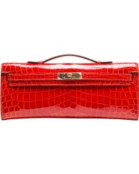 Hermès | Sanguine Shiny Niloticus Crocodile Kelly Cut | Lyst