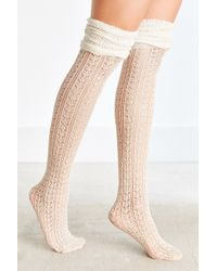 Urban Outfitters - Tonal Scrunch Over-the-knee Sock - Lyst