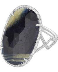 Monique Pean Atelier - Diamond  Sapphire Slice Ring - Lyst