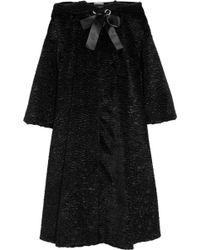 Alexander McQueen Faux Fur Coat - Lyst