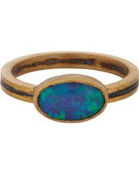 Judy Geib - Opal, Gold & Oxidized Silver Ring - Lyst