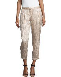 Haute Hippie Animal-Print Textured Pants - Lyst