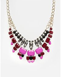 Oasis Multi Row Jewelled Necklace - Lyst