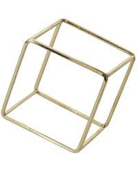 Topshop Cube Outline Bracelet - Lyst