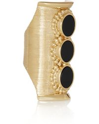 Chloé Goldtone Onyx Ring - Lyst