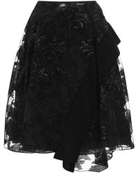 Prabal Gurung Embroidered Circle Skirt - Lyst