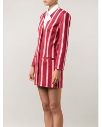 House Of Holland Jacquard Stripe Blazer Dress - Lyst