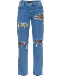 House Of Holland Lace Boyfriend Jeans - Lyst