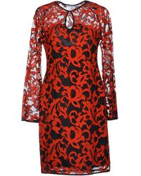 Diane von Furstenberg Lightweight Sweater Lace Dark Blue Short Dress - Lyst