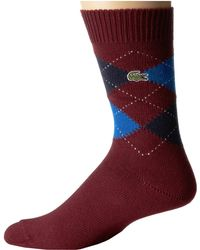 Lacoste Argyle Sock - Lyst