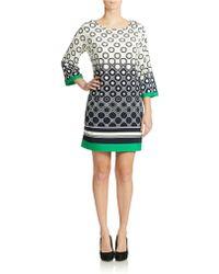 Eliza J Plus Geo Print Shift Dress - Lyst
