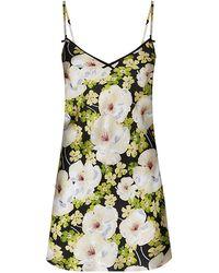 Jenny Packham - Lily Print Silk Short Chemise - Lyst