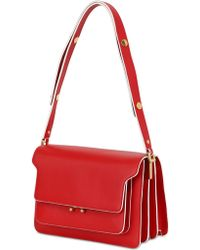 Marni Small Trunk Leather Shoulder Bag - Lyst