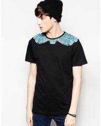 Serge Denimes T-Shirt With Eagle Wing Neck Print - Lyst
