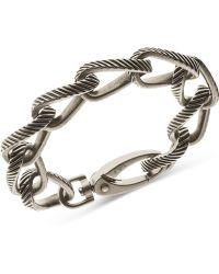 Armani - Emporio Men's Stainless Steel Heavy Link Bracelet Egs2082 - Lyst