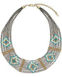 Topshop Grey Diamond Seed Bead Collar  Grey - Lyst