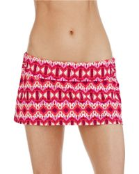 Kenneth Cole Reaction Nightfall in Love Skirted Swim Hipster Bottoms - Lyst