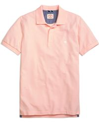 Brooks Brothers Solid Pique Polo Shirt - Lyst