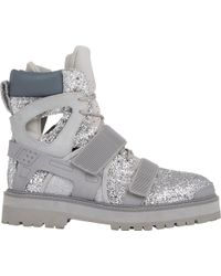 Hood By Air   Glitter Avalanche Boots-Silver Size 8   Lyst