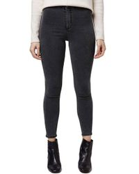 Topshop | Moto 'joni' High Rise Skinny Crop Jeans | Lyst