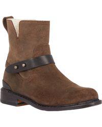 Rag & Bone Shearling-Lined Ashford Moto Boots - Lyst