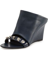 Balenciaga Studded Glove Wedge Slide - Lyst