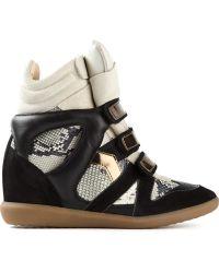 Isabel Marant 'Bonny' Hi-Top Sneakers - Lyst